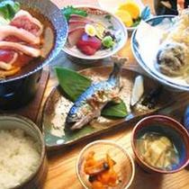 【和食御膳】あまごの塩焼きや鴨鍋などの山の幸と日本海の幸をご堪能下さい