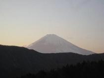夕刻の富士山 ロビーからの景色