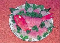 下田名産、金目鯛の料理例