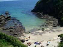 田牛のお隣にある碁石が浜は、プライベート風の穴場ビーチ