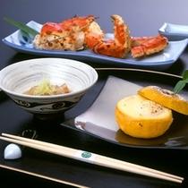 冬料理一例/季節感を大切したお品書き。季節の食材・蟹も登場いたします。