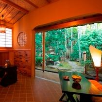 茶室/茶室立札席『竹泉庵』ではお客様に抹茶をお出しすることも。