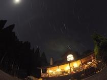 ペンションの夜空
