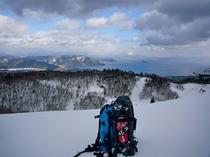 箱館山スノーシュー景色