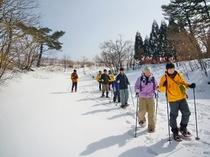 スノーシュー体験「箱館山」②スタート