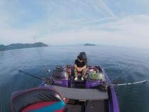 琵琶鱒のレイクトローリング光景