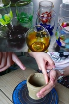 観光:吹きガラス&陶芸体験