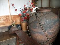 玄関の茶壷