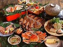 夕食例(カニフルコース)