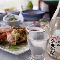 *【夕食全体例】稚内限定の日本酒「最北航路」がセットになったプランもございます。