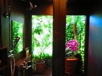 女性シャワールーム 開放的な庭
