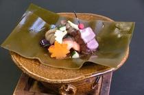 鮭と牛肉の昆布焼き~チアシード入り田楽味噌とともに~