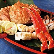 北海道ならではの3大蟹の大盤振る舞いです!