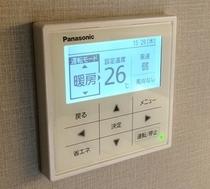 個別空調を完備し、お客様のご希望される温度設定が可能です