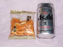 アサヒ350ML・柿の種