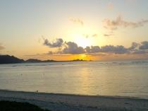 米原から川平を望む夕日