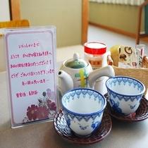 客室係りのメッセージとお茶菓子