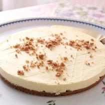 *朝食後の手作りデザートその⑤レアチーズケーキ