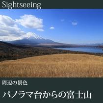 ▼パノラマ台からの富士山