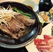 牛バラ肉の陶板焼き御膳