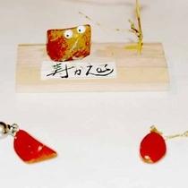 *【体験】石細工体験/佐渡の赤玉石を選び穴明け作業をします。