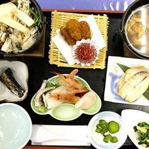 *【料理一例】新鮮な日本海の海の幸を中心とした和食
