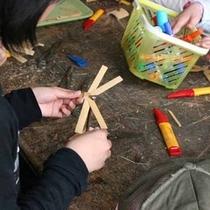 *【体験】ときべい作り体験/竹を切ったりけずったりしながら作ります。