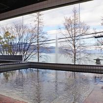 *【男湯:大浴場】〜熱海 伊豆山温泉〜琵琶湖の大パノラマを一望できる大浴場!