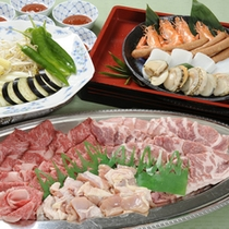 【BBQ料理(一例)】ご好評のお肉に海鮮、お野菜のバーベキュー♪