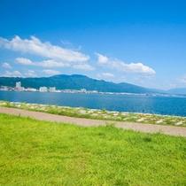 早起きして琵琶湖畔をぶらり散歩やジョギングが気持ちいい♪