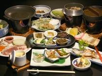 スタンダード和食膳<桃豚の陶板焼き>