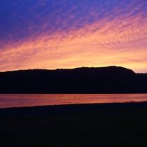 十和田湖の夕焼け