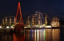 【春】帆船ライトアップ