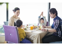 家族でわいわい☆美味しい朝食