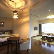 【特別室】最上階ビューバス付デラックスルーム一例