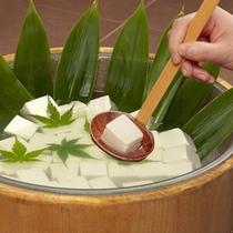 朝食手作り豆腐