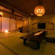 【特別室・三間続き・和室ツイン】三世代やグループ旅行にお薦めな、空間を贅沢に使ったお部屋です。