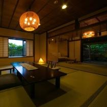 【露天風呂付特別室・三間続き・和室ツイン】お祝いや特別な日に。上質な空間で水入らずのひとときを。
