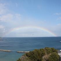 【虹の千鳥ヶ浜】