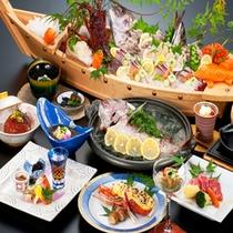 【海女笛会席】当館人気のスタンダードプラン。伊勢海老2品に当館名物 タイの香草蒸し