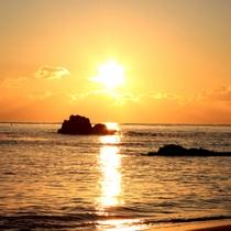 朝日(千鳥が浜)