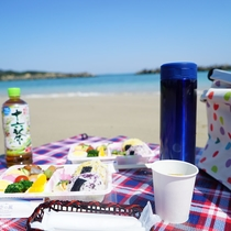 海辺でピクニック