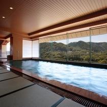 展望大浴場【萩姫の湯】内湯 畳敷きが気持ちイイ ミニサウナもございます♪
