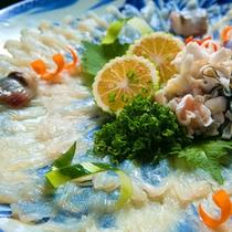 ◆薄引き◆世界でも評価の高い、豊後水道で獲れた絶品地魚のお造りに舌鼓♪