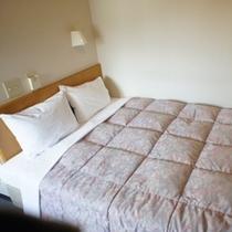 【ダブルルーム】ゆったり幅の大きなベッドでごゆっくりとお寛ぎ下さい♪
