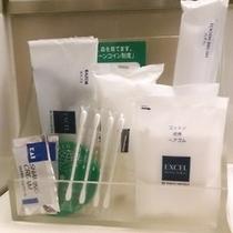 歯ブラシ、かみそり、ブラシなど基本的なアメニティをそろえております。