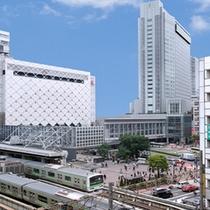 ハチ公口目の前。JR渋谷駅直結。京王井の頭線渋谷駅の真上。最高のロケーションです。