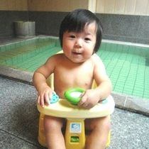 貸切風呂で赤ちゃんもニッコリ♪