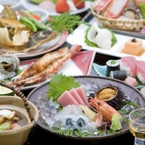お魚料理をいっぱい楽しみたいという方には【海遊会席】