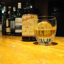 ◆1Fレストラン「グリル五味」は、各種ワインをはじめシングルモルトも充実。